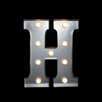 MARQUEE LIGHT LETTER 'H' LED METAL SIGN (10 INCH, BATTERY OPERATED)