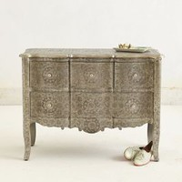 Hand-Embossed Four-Drawer Dresser by Anthropologie