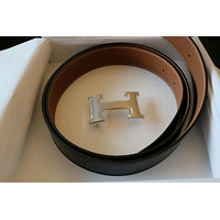 Hermes belt 100 authentic guaranteed with receipt dark brown and brown