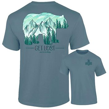 Southernology Get Lost Mountain Bear Comfort Colors T-Shirt