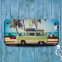 iPhone 4 4s 5 5s 5c 6 6s plus iPod Touch 4th 5th 6th Gen Super Cute Follow Your Dreams California Dreaming Adorable Dreamer Phone Case Cover