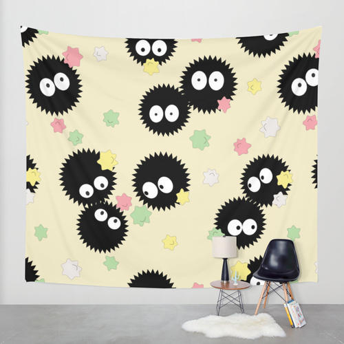 Spirited Away Soot Sprites With Konpeito From Society6 Wall