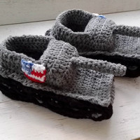 Crochet Tank Slippers American Flag Tank Slippers Boyfriend Gifts Coworker Gifts  For Dad Panzer 1 Slippers Tankschuhe Tank Shoes  For Him