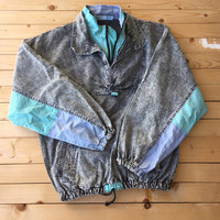 Vintage Pullover Acid Denim Wash Jacket Bleached Distressed