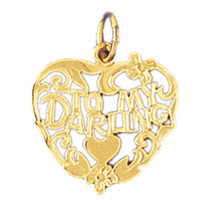 14K GOLD SAYING CHARM - TO MY DARLING #10291