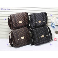 """Louis Vuitton ""fashion trendy print casual wild shoulder flip messenger bag"