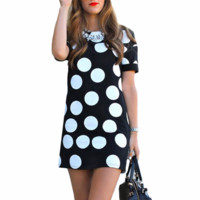 Cool Casual Polka Dot Elegant Dress
