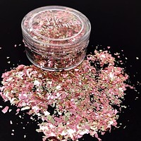 Pink & Gold Flakes