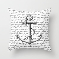 Anchor Throw Pillow by Kristi Kaz