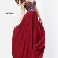 2014 Sherri Hill Flowy Skirt Homecoming Dress 1937