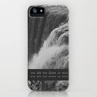 mumford + sons - you are not alone in this. iPhone & iPod Case by Lissalaine