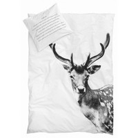 By Nord Deer Adult Queen Size Bed Duvet and Pillow Cover Set | Mora Approved
