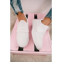 Here And Gone Slip On Sneakers (White)