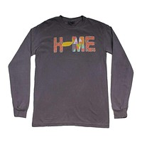 Tennessee Home Long Sleeve Tee in Gray by Southern Roots