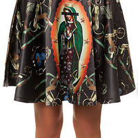 The Apparition Halo Skirt in Black Multi
