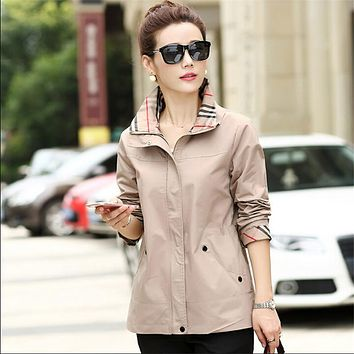 M-4Xl Women Plus Size Autumn Spring Trench Coat Long Sleeve Casual Fashion Trench And Coat Solid Casaco Feminino A3042