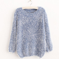 2016 new women Mohair O-Neck Pullovers hipster autumn winter Long Sleeve Sweater female casual brand clothing kawaii kpop shirts
