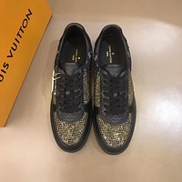 lv louis vuitton men fashion boots fashionable casual leather breathable sneakers running shoes 524