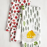 Rustic Home Sweet Hideaway Dish Towel Set by ModCloth