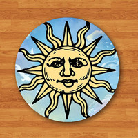 The SUN Taro GypsyWith Abstract Sky Desk Deco Hipster Circle Computer Pad Drawing Customized Gift Personalized Vintage Home Premier Prints