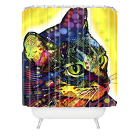 Dean Russo Confident Cat Shower Curtain