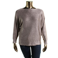 Alfani Womens Plus Knit Sequined Pullover Sweater