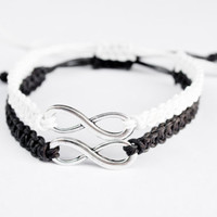Infinity Friendship Bracelets Black and White