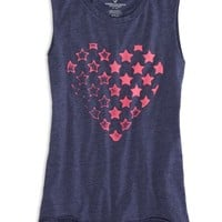 AEO Factory Women's Graphic Muscle Tank (Major Navy)