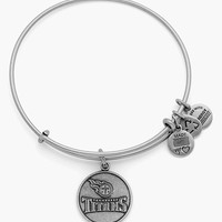 Women's Alex and Ani 'NFL - Tennessee Titans' Adjustable Wire Bracelet - Russian