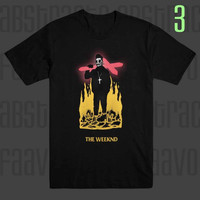 The Weeknd Starboy Pop Star False Alarm Crucifix R&B T Shirt