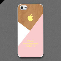 iPhone 5 Case  Pastel layered on wood pattern  also by evoncase