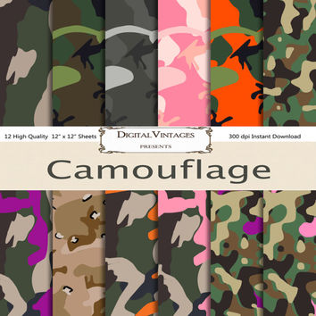 Camouflauge digital paper, Cammo, Camo Patterns, military, hunter, hunting, camoflauge, patterned paper, background