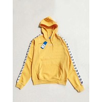 adidas Originals Tnt Tape Pullover Hoodie - Yellow F