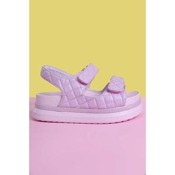 Facts of Life Platform Velcro Sandal - Lilac