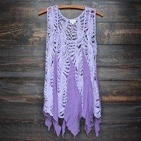 final sale - sundance boho crochet top - lavender