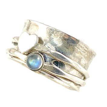 Spinner Ring - Heart's Desire Moonstone Ring