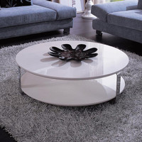 Modern White Round Coffee Table