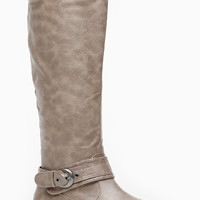 Bamboo Textured Montage Rider Boots
