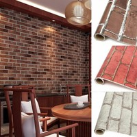 Waterproof Brick Pattern 3D Texture Adhesive Wallpaper Sticker Background Wall sticker Home Decor 4 Colors to Choose