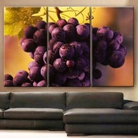 Art Canvas Print beautiful Grapes fruits Wall decorative home office decor interior