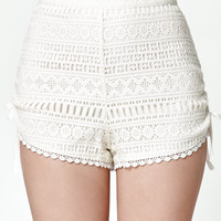 Kendall and Kylie Lace Side Cinch Soft Shorts at PacSun.com