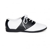 Classic Saddle Shoes in Black and White