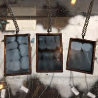 X-Ray Tooth Glass Pendant Rectangle