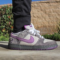 "Nike SB Dunk Low ""Purple Pigeon"" Casual Skateboard Shoes"
