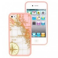 ERO Hybrid TPU Cover for iPhone 4 and 4S, World Map