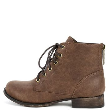 Breckelle's Georgia-43 Lace Up Ankle Boots | MakeMeChic.com