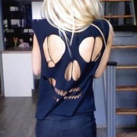 Skull Open Back Top from ShopWunderlust