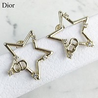 Dior New fashion diamond letter star earring jewelry