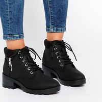 New Look Lace Up Work Boots
