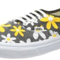 Vans Men's U Authentic Slim Trainers Black-Schwarz Spectra Yellow Daisy Synthetic And Textile Fashion Sneakers 40.5 EU